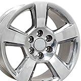 OE Wheels 20 Inch Fits Chevy Silverado Tahoe GMC Sierra Yukon Cadillac Escalade CV76 Polished 20x9 Rim Hollander 5652