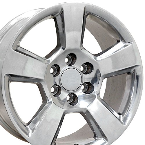 SET of 20×9 Wheels Fit GM Truck & SUV – Chevy Tahoe Style Polished Rims, Hollander 5652