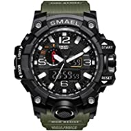 KXAITO Men's Sports Outdoor Waterproof Military Watch Date Multi Function Tactics LED Alarm...