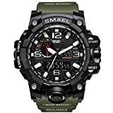 KXAITO Men's Sports Outdoor Waterproof Military Watch Date Multi Function Tactics LED Alarm Stopwatch (Green)
