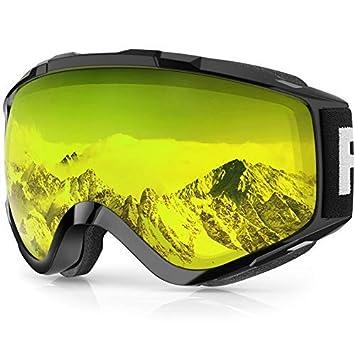 Findway Gafas de Esquí,Máscara Gafas Esqui Snowboard Nieve Espejo ...