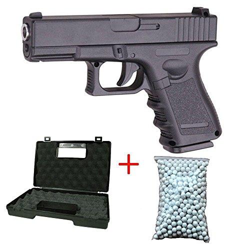 Galaxy Airsoft G.15 Type Glock 17 Culasse Métal à Ressort Couleur Noir Sachet de 600 Billes Offert avec Une Malette… 1
