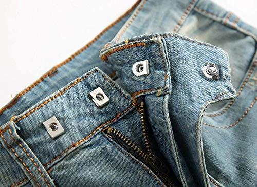 Abbigliamento Vita Di Uomini Libero Strappati Jeans Il Metà Skinny Tempo Per Dritta Adelina Nostalgia Vintage Blu Stretch Della gpqUv
