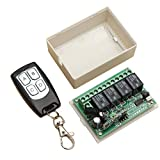 12V 4CH Channel 433Mhz Wireless Remote Control Switch - Arduino Compatible SCM & DIY Kits