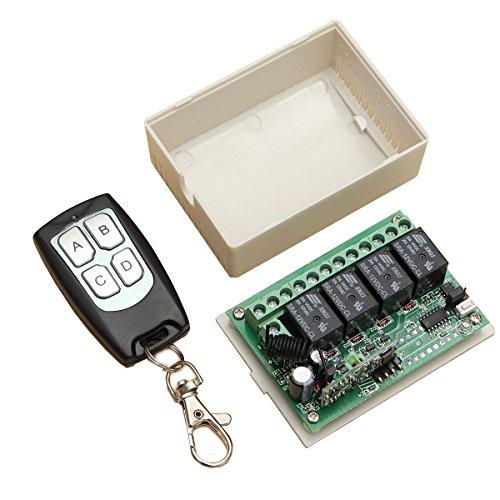 12V 4CH Channel 433Mhz Wireless Remote Control Switch - Arduino Compatible SCM & DIY Kits by Ochoos Module Board