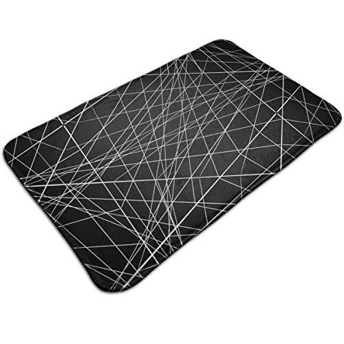 (Etuwdie Non-Slip Door Mat Abstraction with Intersecting Lines Design, Non Slip Absorbs Soft Rug Carpet for Indoor Outdoor Patio 31.5 X 19.5)