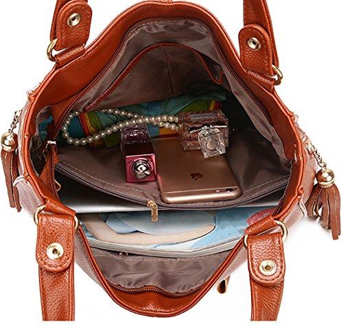 bandolera bolsos clutches Carteras mano Shoppers Barna Mujer y Bolsos de y hombro de wTPOEYq