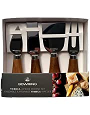 Tribeca 4 Piece Cheese Knife Set, Acacia Wood/Stainless Steel