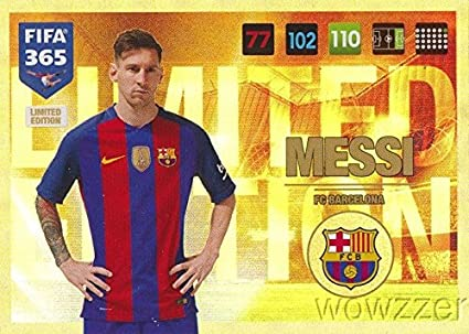 Lionel Messi 2017 Panini Adrenalyn XL FIFA 365 EXCLUSIVE HUGE JUMBO XXL Limited Edition Card in