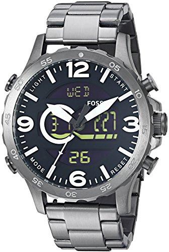 Fossil Nate Casual Analog Digital Black Dial Men's Watch   JR1491