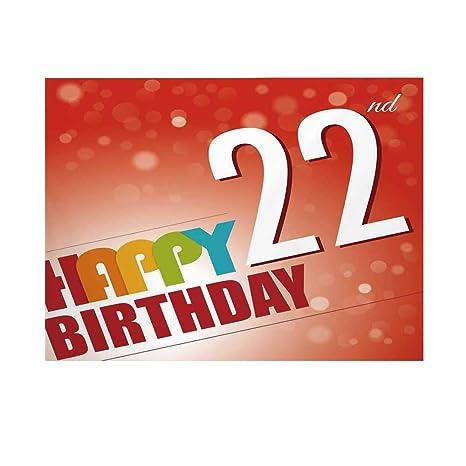 Fondo para fotografía de 22 cumpleaños Decoraciones, para ...