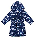 Verabella Boys Girls' Fleece Printed Hooded Beach Cover up Pool wrap,Ocean,M