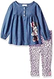 Apparel : Disney Baby Girls' Minnie Mouse 2 Piece Chambray Top and Legging Set