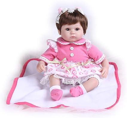"16"" Reborn Baby Dolls Real Life Silicone Vinyl Realistic Handmade Girl Newborn"