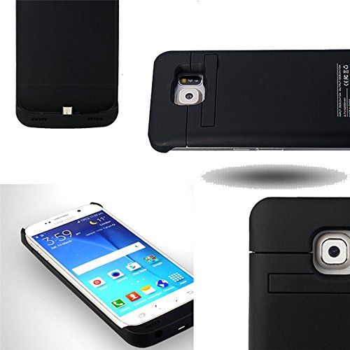 Galaxy S6 Battery instance SQdeal US Stock 4200mAh Rechargeable External Backup Battery instance capability Bank because of Kickstand convenient Charging instance for Samsung Galaxy S6 G920 All Version Black Battery Charger Cases