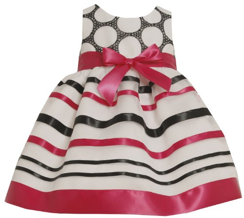 Bonnie Jean Little Girls' Organza Dress With Ribbon Trim