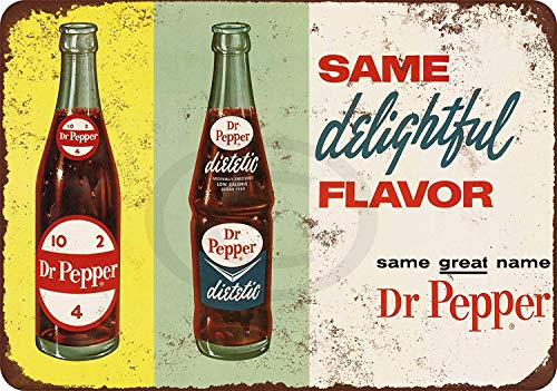NNHG Tin Sign 8x12 inches 1963 Diet Dr. Pepper Reproduction Metal Sign