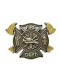 New Vintage Bronze Plated FD Firefighter Belt Buckle Gurtelschnalle