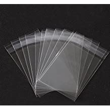 Pack of 100 Self-sealing Clear Plastic Flat Cello / Cellophane Bags Wrap with Adhesive Closure (3''X5'')