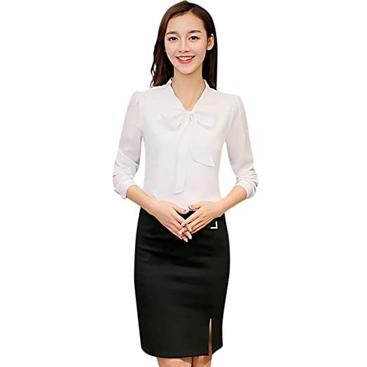 e1d167f58 Amazon.com: YOcheerful Women T Shirt T-Shirt Chiffon Workwear Office Formal  Tee Top: Clothing