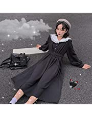 Mcttui Lolita kleding Lolita Jurk Streetwear Dames Kawaii Zwart Hoge Taille Jurk Goth Lolita Japanse Preppy Stijl Koreaanse Streetwear Dames College Style Gothic Clothes Leuk