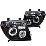 Spec-D Tuning 2LHP-PATH05JM-TM Black Projector Headlight (Halo Led)