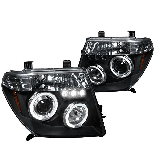Spec-D Tuning 2LHP-PATH05JM-TM Nissan Pathfinder Frontier Black Halo Led Projector Headlights