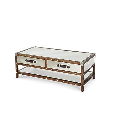 Amazon Com Simpli Home Amherst Solid Wood Coffee Table