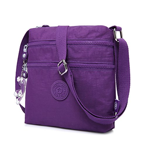 Girls Travel for Bag Side Sport Satchel Messenger Casual Shoulder Pack Fashion Foino Bag Women Bag Purple Cross Body Crossbody w6pAAt