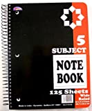 5-Subject Spiral Notebook 125 Sheets 48 pcs sku# 1857722MA