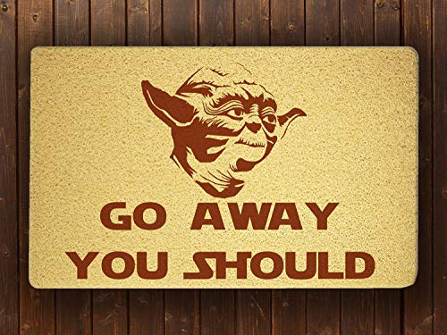 Vikarthouse Yoda Star Wars Room Doormat Sweet Home Supplies Décor Accessories Unique Gift Handmade Present Idea Original Design Commercial Outside Inside Personalized Quotes Exterior (Unique Home Accessories Gifts &)