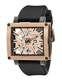 Stuhrling Original Men's 257.ST.334655 Metro Collection Axis Automatic Skeleton Watch