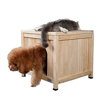 Casetas para perros Casa De Mascotas Casa De La Perrera Casa De Peluche De Madera Maciza ...