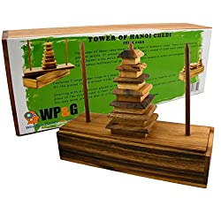 Tower Of Hanoi Chedi 7 Steps - Wooden Puzzle Brain Teaser