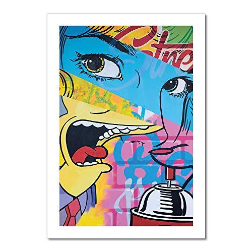 "Blue Eyes Artwork | Art Print - 12"" Gallery Grade Thick Paper| Living Room, Bedroom, Office, Bathroom Wall Decor Art Ready to Hang para El Hogar Decoracion | 18"" x 12"""