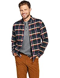 Men's Big & Tall Traditional Fit Long Sleeve Pattern Flagship Flannel Shirt