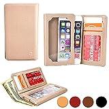 zte grand memo ii lte - Cooper Cases(TM) Infinite Wallet ZTE Grand Memo/II LTE, S II, X Max+, X2 In, Xmax Smartphone Case in Gold (PU Canvas Cover, Built-in Screen Protector, Card Slots, ID Holder, Billfold)
