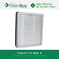 Idylis Air Purifier Filter B. Idylis IAF-H-100B. Designed by FilterBuy to fit Idylis IAP-10-050 & IAP-10-125.