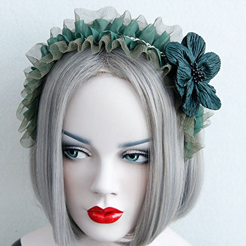 Hair Accessories Maid Rose Flower Headband Lace Headdress Flower Head Elegant Hair Ornaments (FG-09)