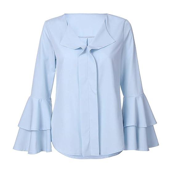 Camisas Mujer Camisas de impresión de Moda de Verano para Mujer Camiseta de Manga Larga Deportivas