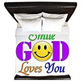 King Duvet Cover Smile God Loves You