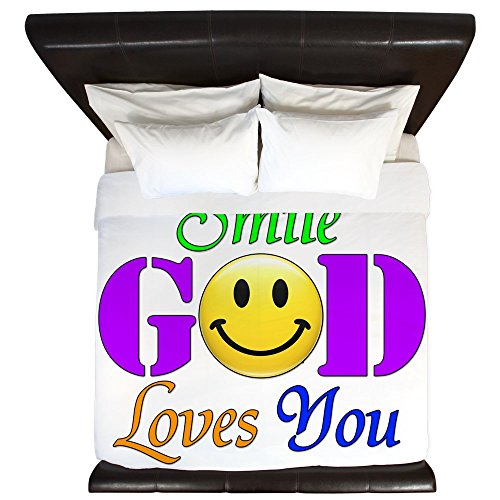 King Duvet Cover Smile God Loves You by Royal Lion