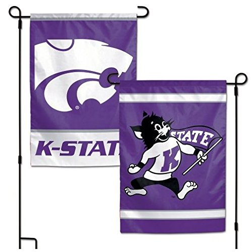 NCAA Kansas State University Wildcats 12x18 Inch 2-Sided Outdoor Garden Flag