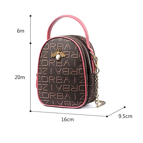 JIUTE Shoulder Bag Mini Female Korean Bag Leather Soft Fashion Handbags package Phone Messenger Bag Retro tCnptqrw