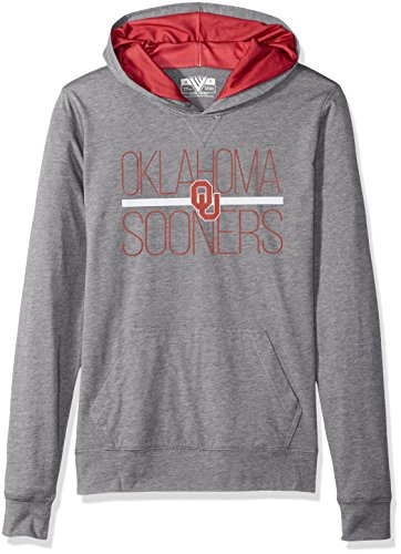 Charcoal Large Levelwear LEY9R NCAA Oklahoma Sooners Adult Women Entice Crested V-Neck Tee