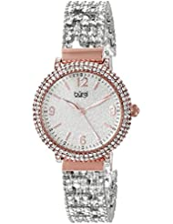 Burgi Womens BUR140RG Swarovski Crystal Filled Rose Gold and Silver Bracelet Watch