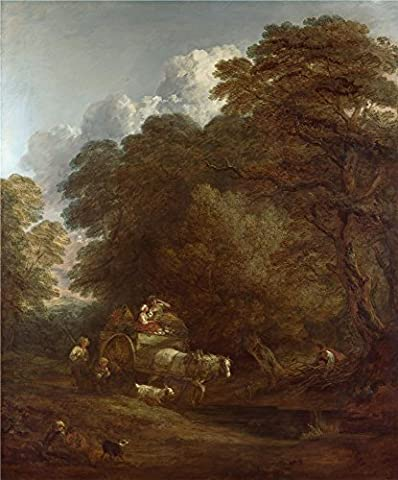 The Polyster Canvas Of Oil Painting 'Thomas Gainsborough The Market Cart ' ,size: 10 X 12 Inch / 25 X 31 Cm ,this Beautiful Art Decorative Prints On Canvas Is Fit For Gift For Relatives And Home Decor And (Tag Junior Books Thomas)