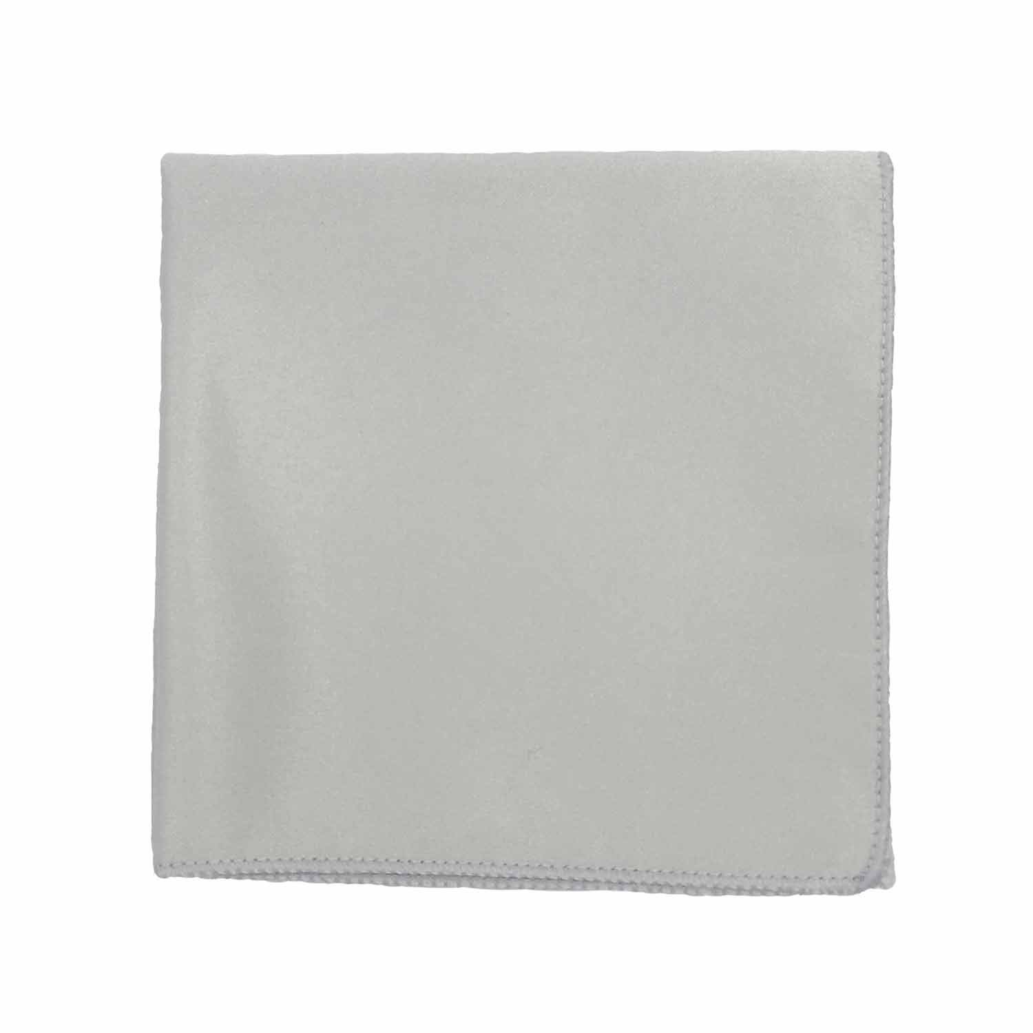 Spencer J's Satin Pocket Squares Handkerchief Boys and Mens (Light Silver)