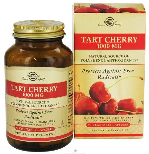 Solgar Tart Cherry 1000 Mg Vegetable Capsules, 90 Vc. 3 Pack