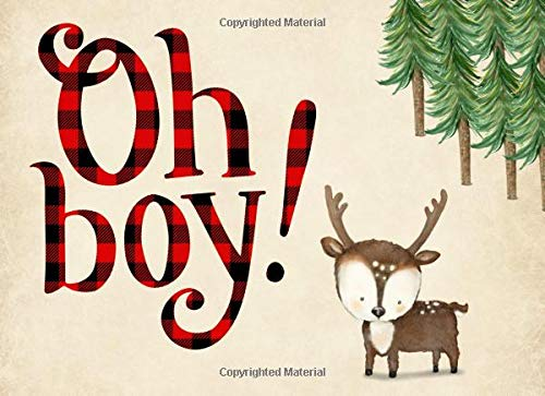 Pdf Parenting Oh Boy!: Baby Shower Guest book, Deer, Ideal for a Lumberjack theme baby shower! Space for a picture, Write predictions & advise, with gift log.